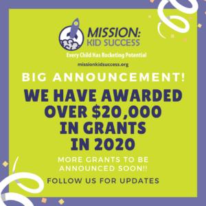 $20K in grants in 2020